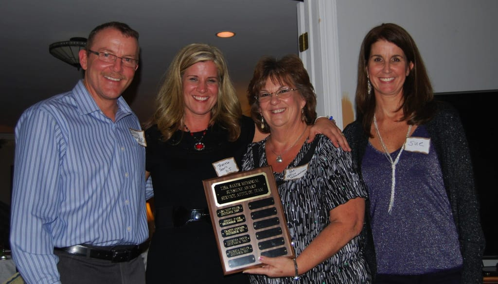 Sunshine Award 2012 Winners: Theresa Davis and Patricia Dahlen with John Baker and Sue Paul